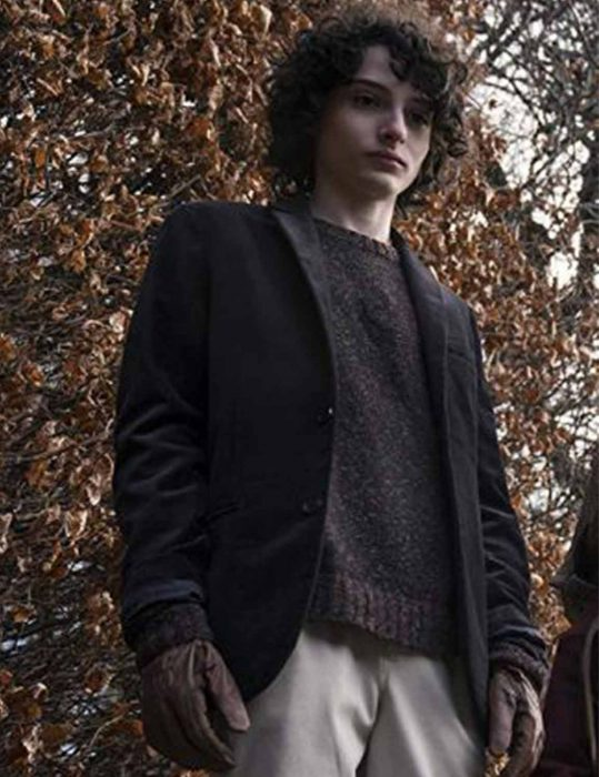 the turning finn wolfhard wool coat
