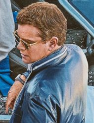Carroll Shelby Ford v Ferrari Jacket Matt Damon Blue Jacket