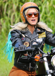Harleys in Hawaii Katy Perry Biker Jacket with Fringes