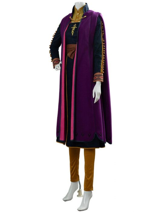 frozen II anna kristen bell purple coat