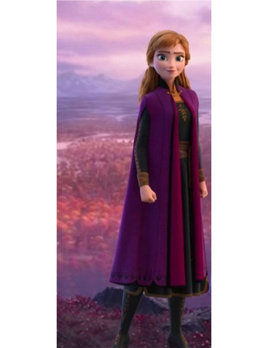 frozen II anna purple coat