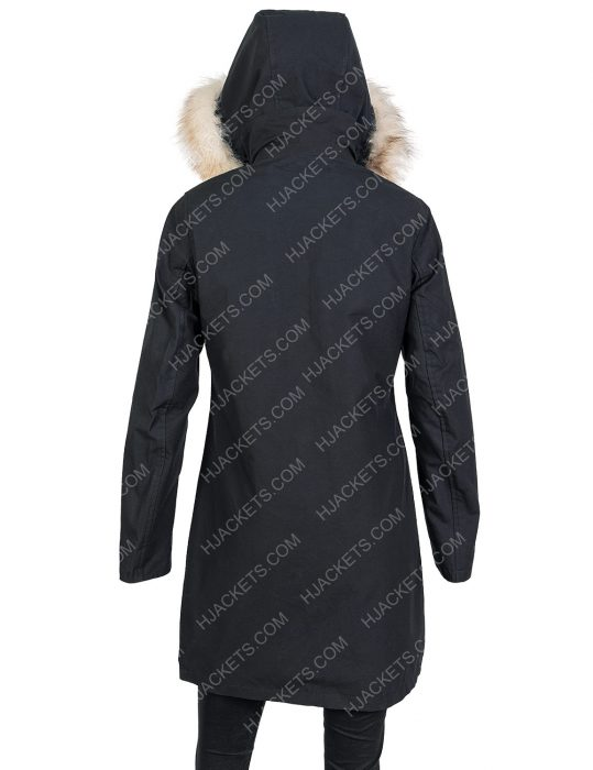 let it snow isabela monor fur cotton coat with hood
