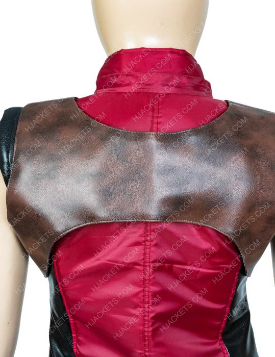martha red vest