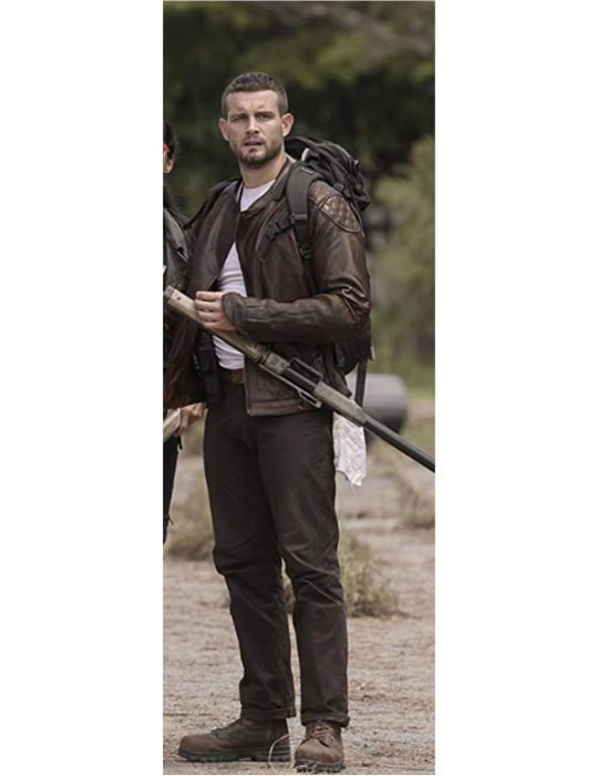 the walking dead world beyond felix leather jacket