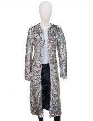 Harley Quinn Margot Robbie Birds Of Prey Sequin Long Duster Coat