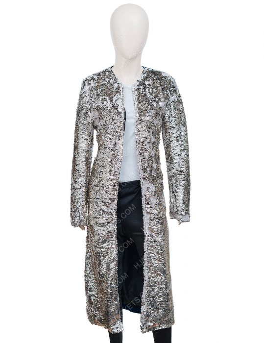 Harley Quinn Margot Robbie Birds Of Prey Sequin Long Duster Coat