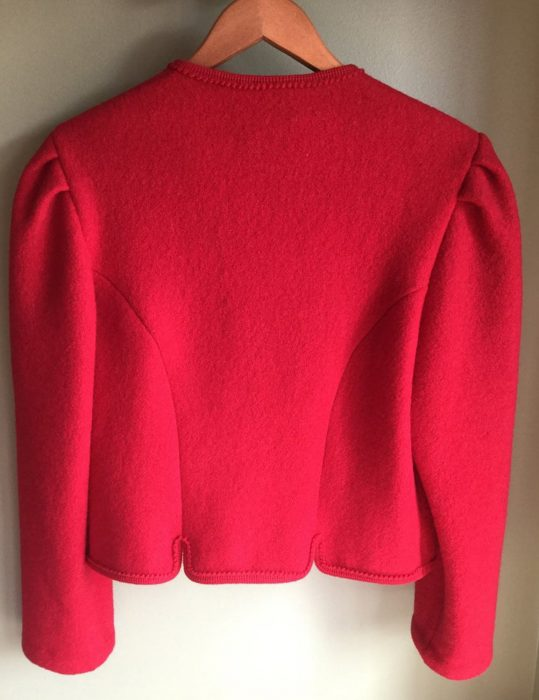 red christmas tyrolean jacket