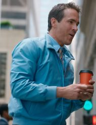ryan reynolds free guy blue bomber jacket