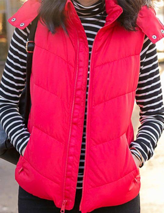 womens puffer hooded vest