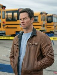 Spenser Confidential Mark Wahlberg brown leather Jacket
