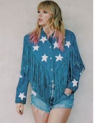 taylor-swift-miss-americana-denimfringe-jacket
