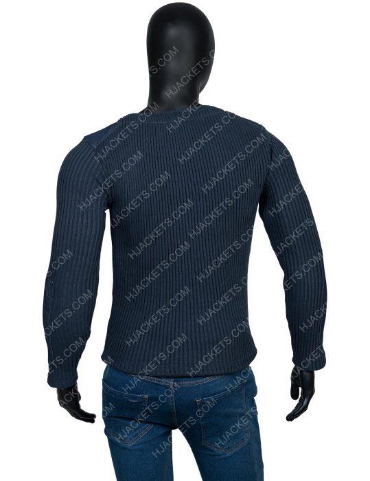 James Bond Blue Woolen Sweater