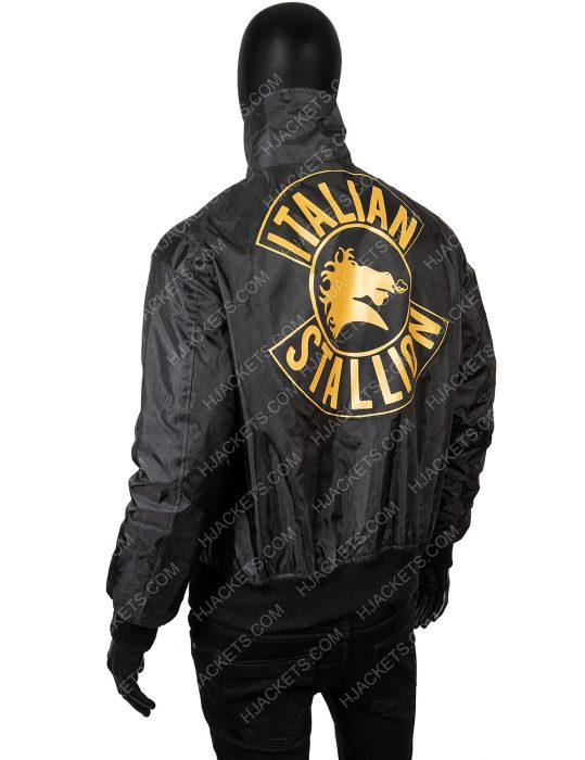 Rocky 3 Sylvester Stallone black jacket