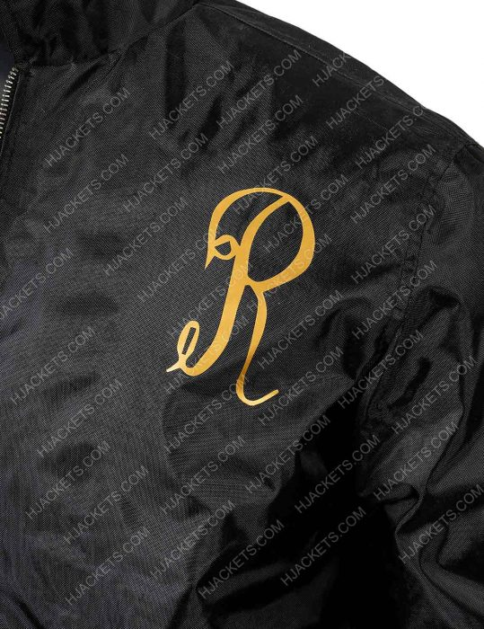 Sylvester Stallone Rocky 3 Italian Stallion Black bomber jacket