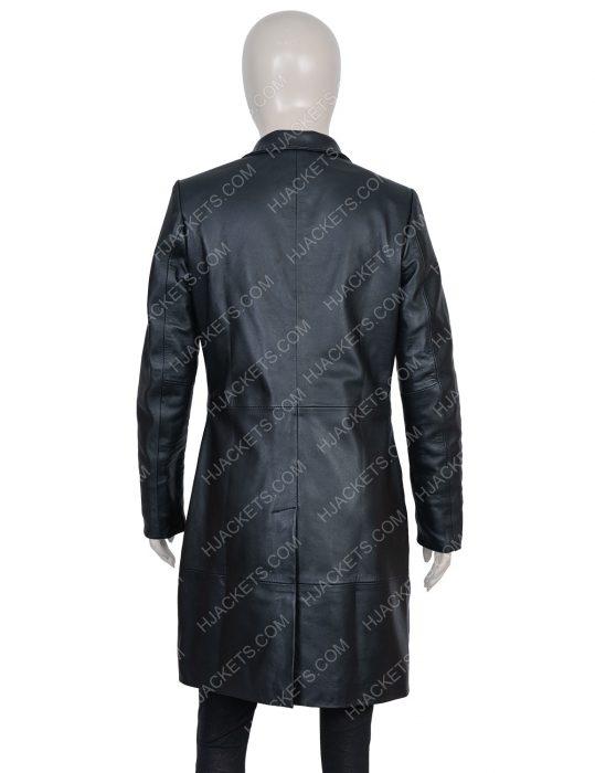 Zoë Kravitz High Fidelity Black Leather Coat