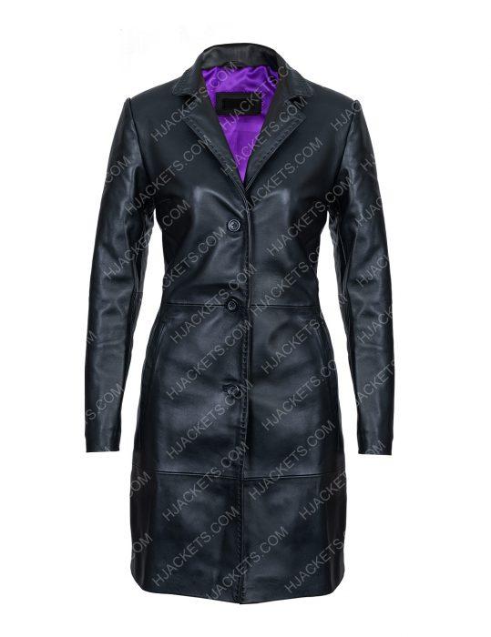 Zoë Kravitz High Fidelity Leather Coat