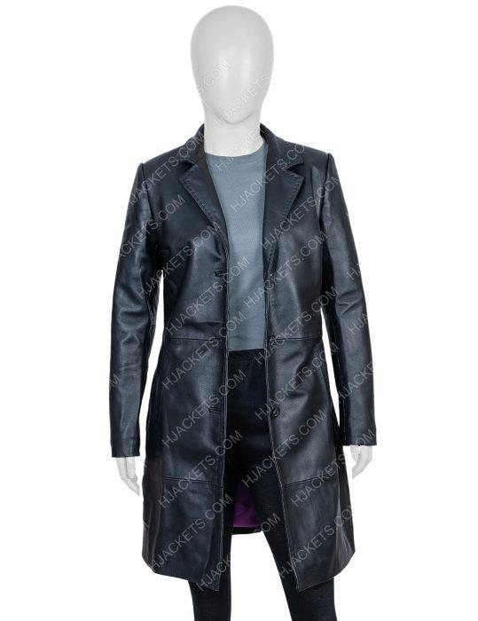 Zoë Kravitz High Fidelity Leather Trench Coat