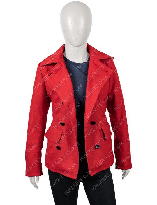 brooke d'orsay red coat