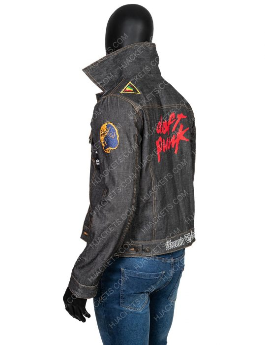 Daft Punk Black Denim Jacket With Patches
