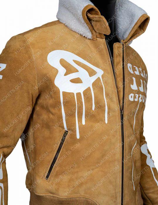 Gigi Hadid Bomber Brown Jacket