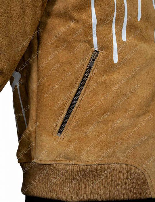 Gigi Hadid Brown Leather Jacket