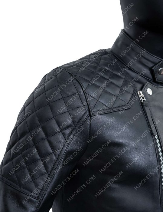 damian lewis black leather jacket