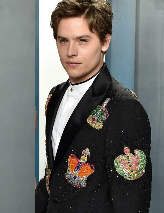 dylan sprouse banana split coat with patch