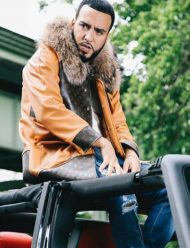American Rapper French Montana Leather Coat