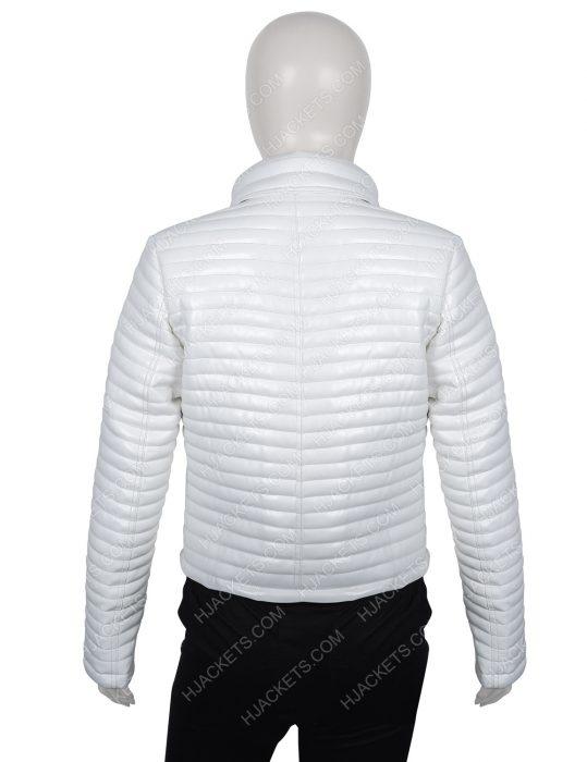 Bloodshot Eiza Gonzalez White Puffer Jacket