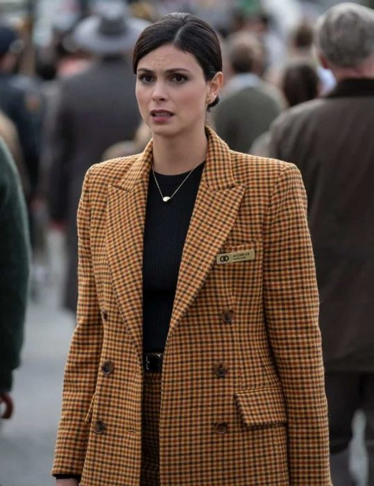 the twilight zone season 2 morena baccarin coat