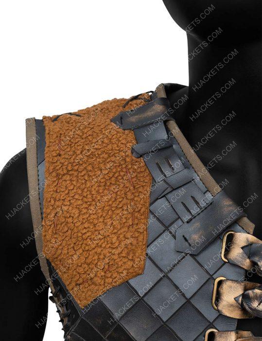 Ertugrul Engin Altan Duzyatan Season 05 Leather Vest