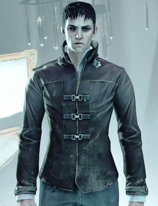 dishonored-death-of-the-outsider-robin-lord-taylor-black-leather-jacket