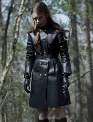 lily collins inheritance lauren monroe trench coat