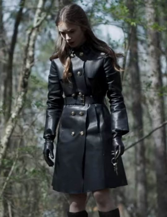 lily collins inheritance lauren monroe trench coat
