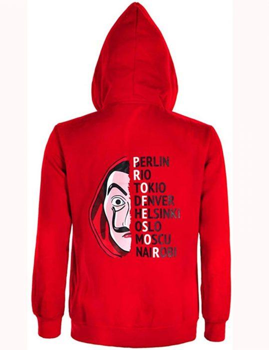 money-heist-la-casa-de-papel-red-hoodie