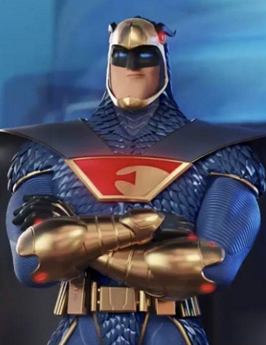 scoob blue falcon leather jacket