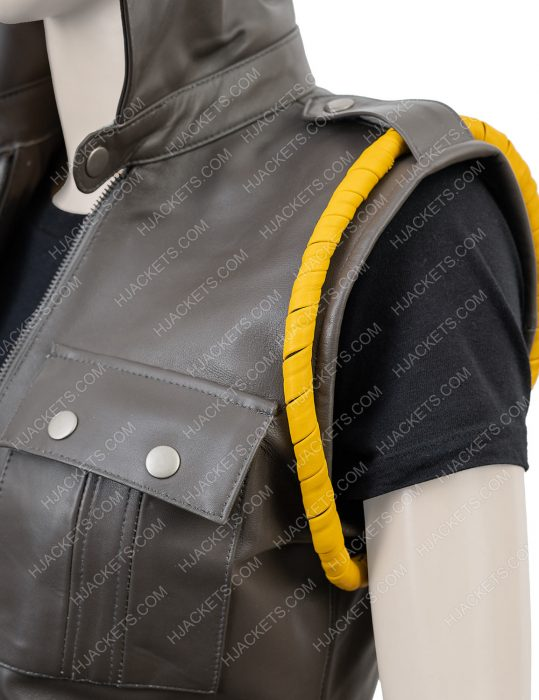soldier sonya blade mortal kombat x black leather vest