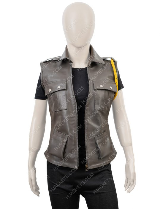 mortal kombat x sonya blade black leather vest