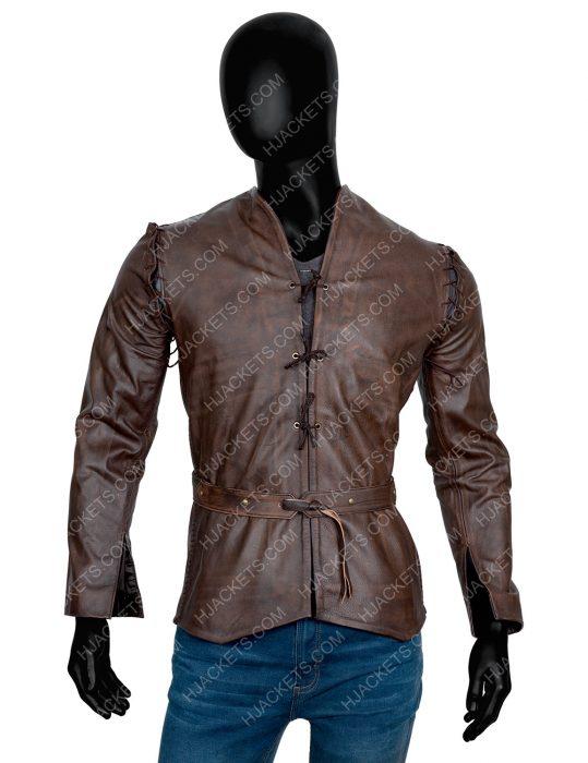Cursed 2020 Devon Terrell Brown Leather Jacket