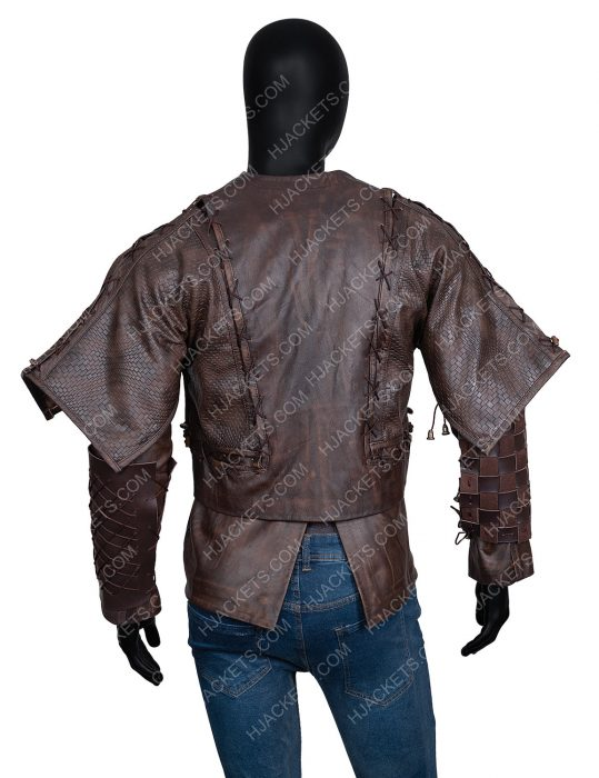 Cursed Devon Terrell Brown Leather Jacket