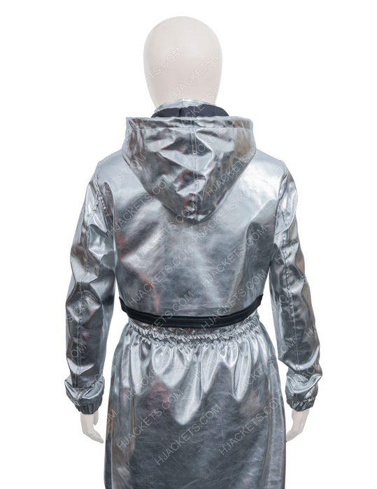 Feel The Beat Sofia Carson Silver April Coat