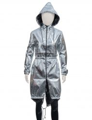 Feel The Beat Sofia Carson Silver Hooded Coat