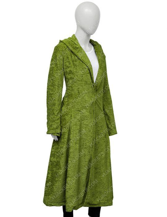 Grace Sachs The Undoing Green Wool Coat