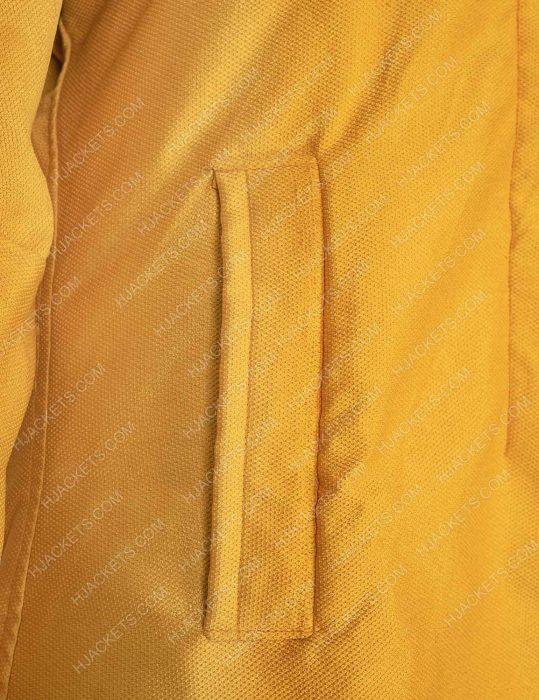 Jodie Comer Killing Eve S03 Yellow Wool Coat