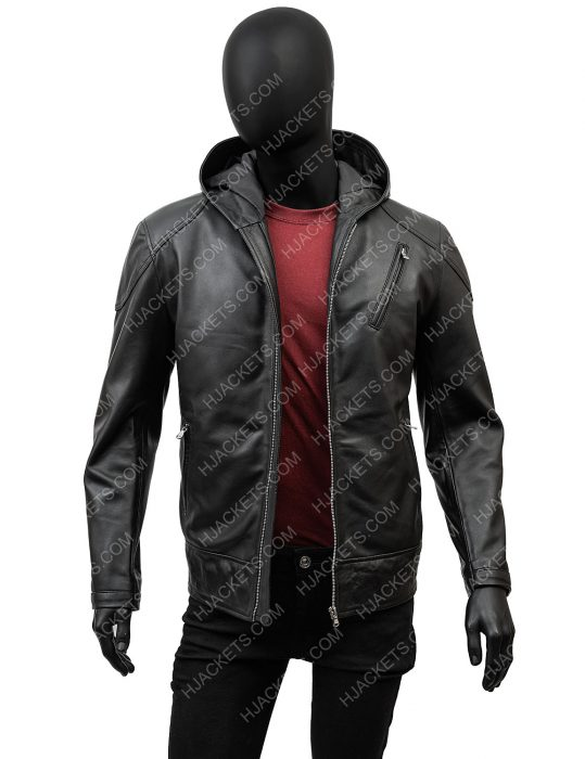 Justin H. Min The Umbrella Academy Season 02 Ben Hargreeves Leather Jacket