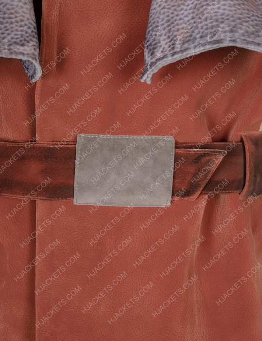 the mandalorian kuiil brown leather vest