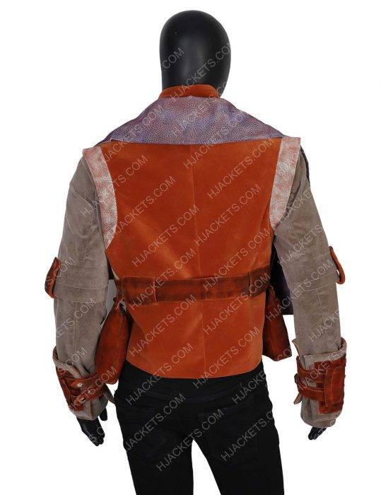 the mandalorian kuiil leather vest