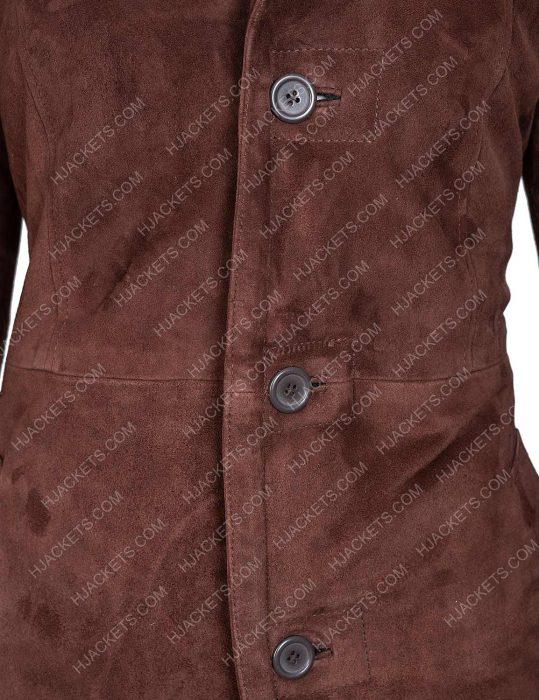 Monica Dutton Yellowstone Brown Shearling Coat