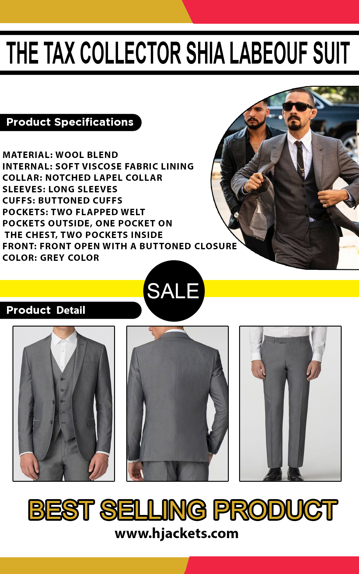 The-Tax-Collector-Shia-Labeouf-Suit-info