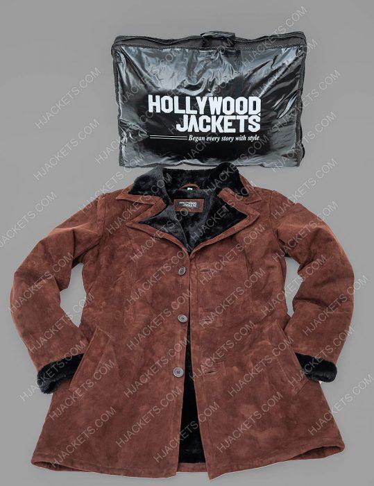 Yellowstone Monica Dutton Brown Shearling Coat